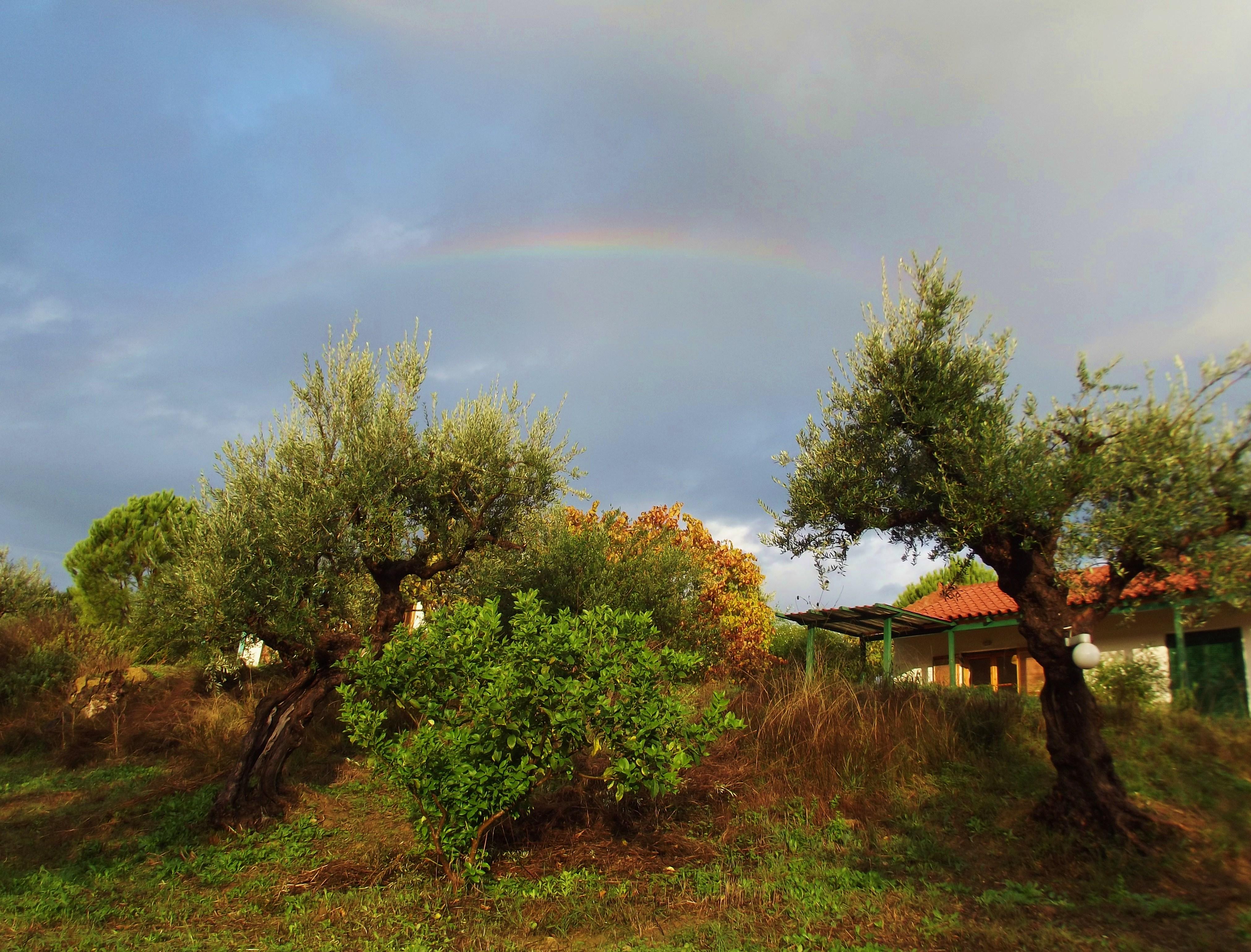 rainbow over Gargarou, villa Jasmine