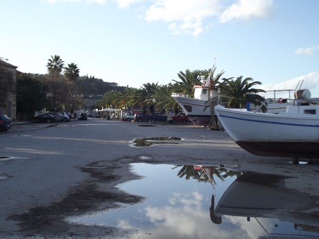reflection Koroni harbour