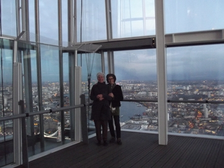Bechsy and Rachael at the Shard