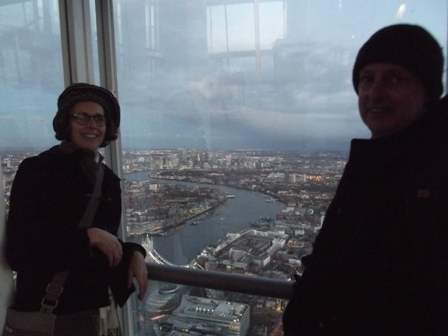 Rachael and Pete at the Shard Jan 2013