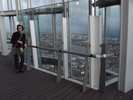 Rachael at the Shard