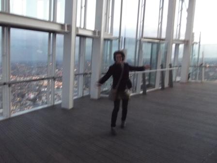 Rachael dancing at The Shard