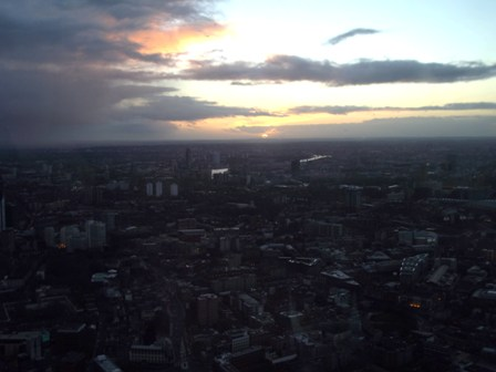 Sunset from The Shard  Jan 27 2013