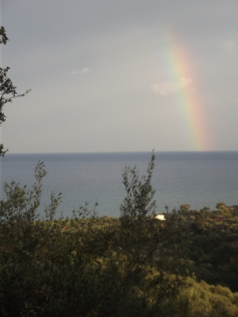 rainbow from Gargarou Retreat